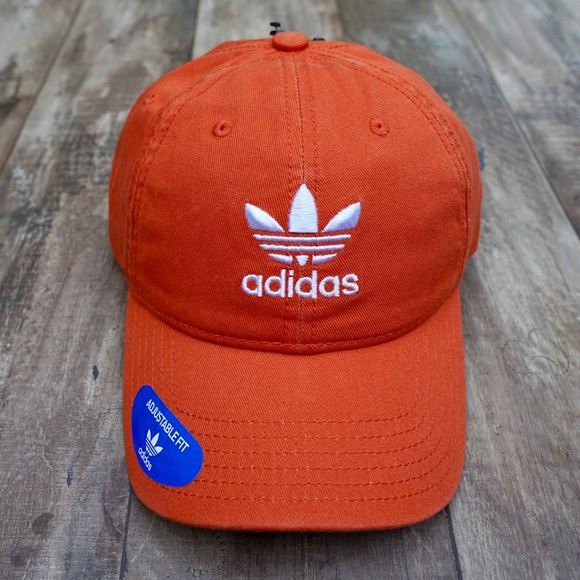 2ad23eb11a29f adidas Accessories | Originals Relaxed Strapback Orange Hat New ...